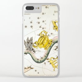 Sidney Hall - Urania's Mirror (1824) - Noctua, Corvus, Crater, Sextans Uraniæ, Hydra, Felis, Lupus, Clear iPhone Case