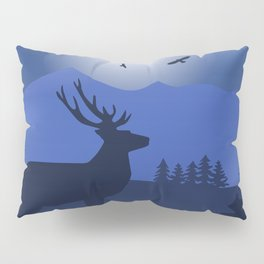 Mystical Night in the Mountains Pillow Sham