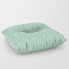 Chicken Wire Mint Floor Pillow