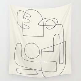 Minimal Abstract Shapes 02 Wall Tapestry