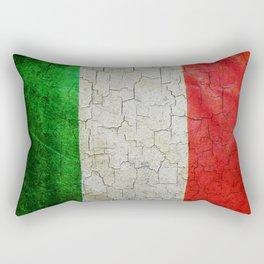 Cracked Italy flag Rectangular Pillow