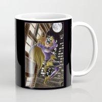 batgirl Mugs featuring Batgirl  by Juliano Sousa
