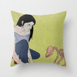 do not touch dead animals - dog Throw Pillow
