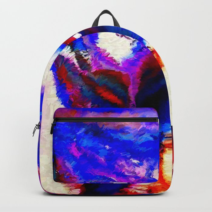 Cobalt and Violet Abstract Backpack