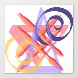 Curved and Straight Lines, Abstract Canvas Print