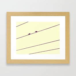 Two Birds on a Wire Framed Art Print