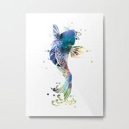 Koi Fish Metal Print