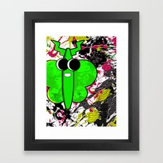 Moth Splat Framed Art Print