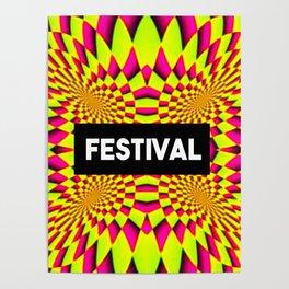 festival tripping design Poster