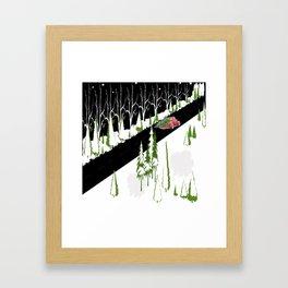 Coming home for Christmas Framed Art Print