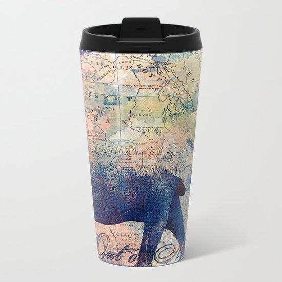 Elephants Journey Metal Travel Mug