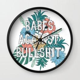 Babes Against Bullshit Wall Clock