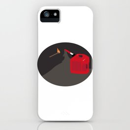 Burn it to Hell iPhone Case