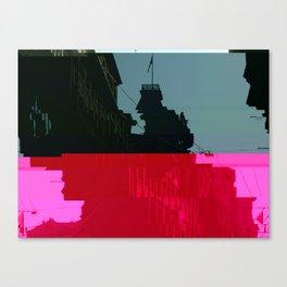 Trieste Glitch 01 Canvas Print