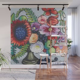 Red Sunflower Party Wall Mural