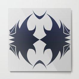 Future Abstract Alien Symbol Techie Metal Print