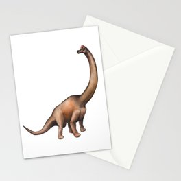 Realistic watercolor dinosaur Stationery Cards