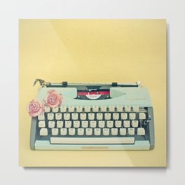 The Typewriter Metal Print