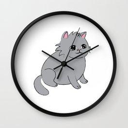Pudge the Cat Wall Clock
