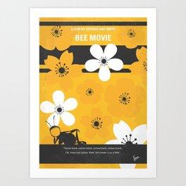 No687 My Bee Movie minimal movie poster Art Print