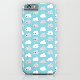 Happy and Sad Kawaii Clouds iPhone Case