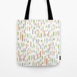 Multicolor Rainfall pattern Tote Bag