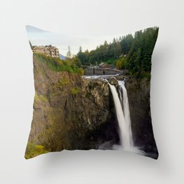 Snoqualmie Falls, Washington Throw Pillow