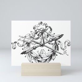 1862 Quill and Pencil Artist and Writer Crest Mini Art Print