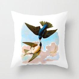 White-bellied Swallow Bird Throw Pillow