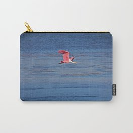 Roseate Spoonbill in Flight IV Carry-All Pouch
