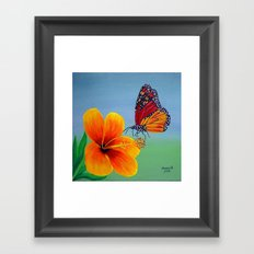 Lily with Butterfly Framed Art Print