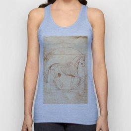 Da Vinci Horse In Piaffe Unisex Tank Top