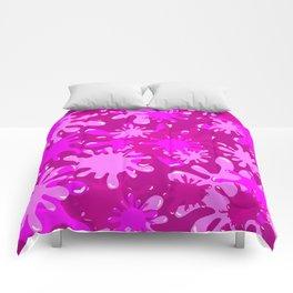 Slime in Hot Pinks Comforters