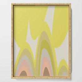 HELMI - Yellow Modern Mid Century Graphic Serving Tray
