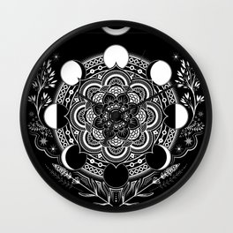 Moon Mandala Wall Clock