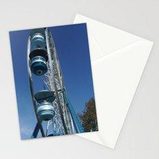 blue ferris wheel Stationery Cards
