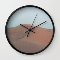 dune Wall Clocks featuring Dune by Richard PJ Lambert