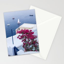 Santorini, Greece all Blue and White Stationery Cards