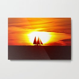 Sunset at Key West Metal Print