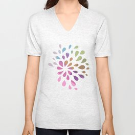 Colourful drops Unisex V-Neck