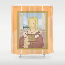 Lady with Unicorn by Raphael Shower Curtain