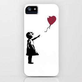 Girl With Red Balloon, Banksy, Streetart Street Art, Grafitti, Artwork, Design For Men, Women, Kids iPhone Case