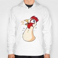 chicken Hoodies featuring chicken by Pixie-Fluff