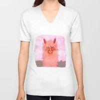 alpaca V-neck T-shirts featuring Alpaca!!! by J Han