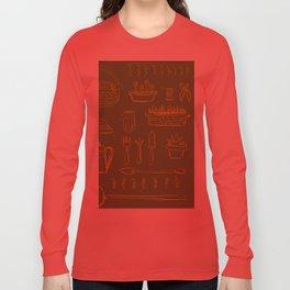 Gardening and Farming! - illustration pattern Long Sleeve T-shirt