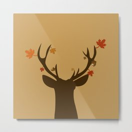 Autumn Deer Metal Print