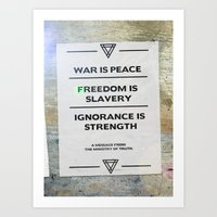 1984 Art Prints featuring 1984 by The Quotes Project