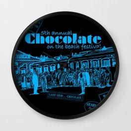 5th Annual Chocolate on the Beach Festival Wall Clock