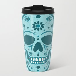 Sugar Skull Blues Metal Travel Mug