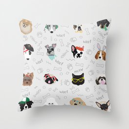 Polka Pets Throw Pillow